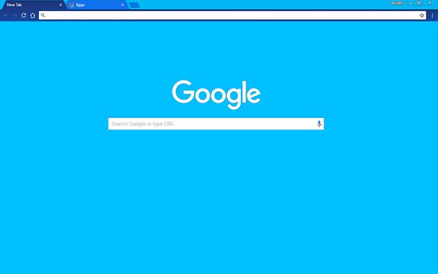 sky blue google chrome theme for download