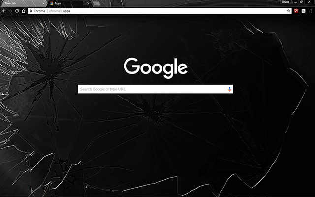 Smashed Chrome Theme