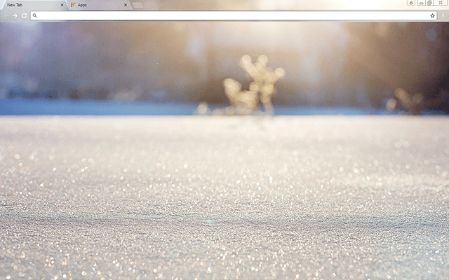 Snowflakes Google Chrome Theme