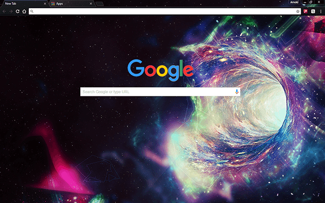 Space Hole Google Chrome Theme