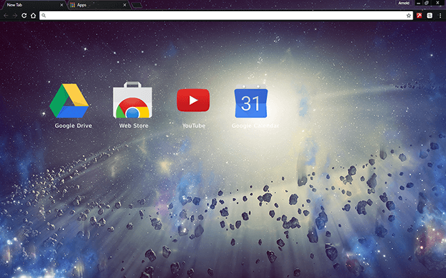 Space Rocks Chrome Theme