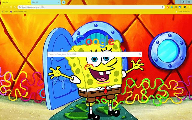 Custom Spongebob Squarepants Google Chrome Theme