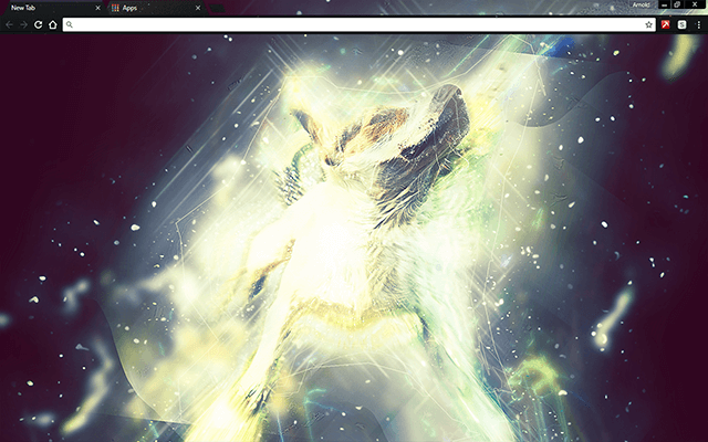 Star Dust Puppy Google Chrome Theme