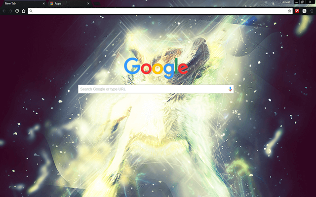 Star Dust Puppy - Google Homepage