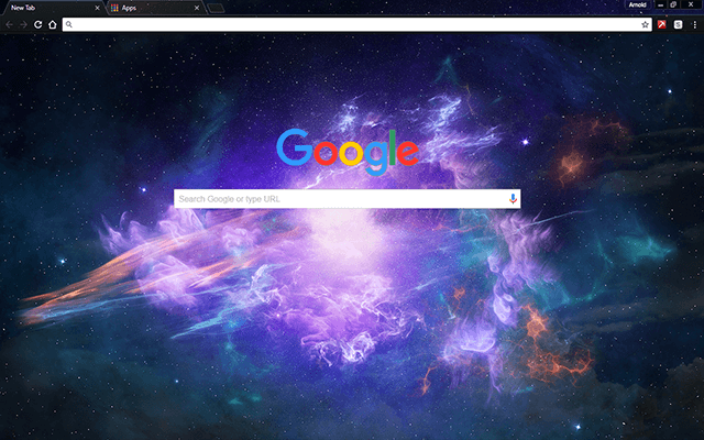 Space Light Google Chrome Theme