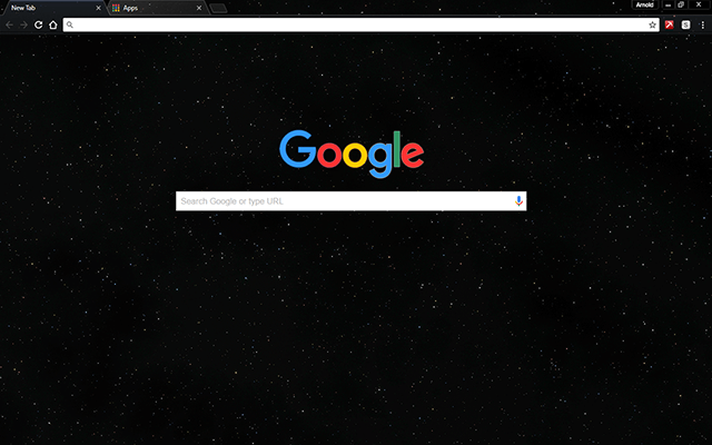 Space Starfield Theme