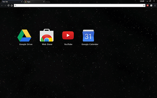Starfield Google Chrome Theme