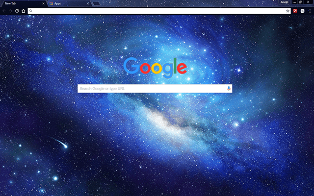 my outer space chrome themes are optimized for google chrome