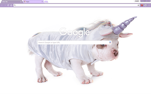 Unicorn Puppy Theme