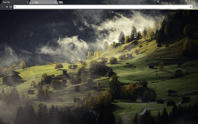 Valley Landscape Google Chrome Theme