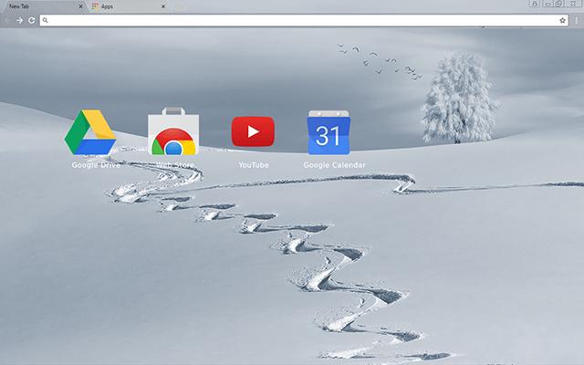 Custom Winter Tracks Google Chrome Theme