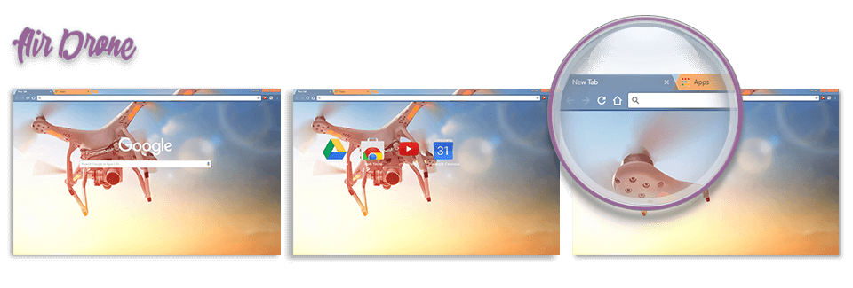 Air Drone Google Chrome Theme