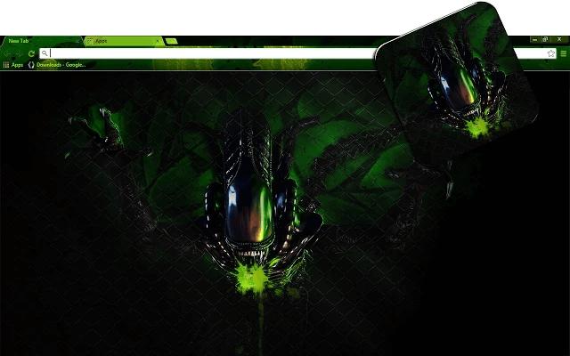 Aliens Google Chrome Theme