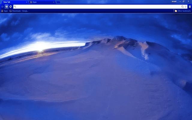 Arctic Ice Google Chrome Theme