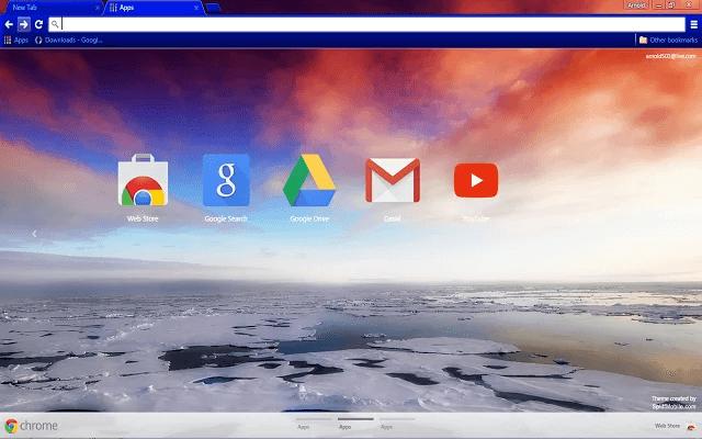 Arctic Sea Ice Google Theme