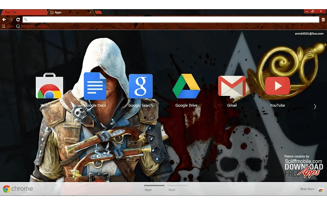 Assassin's Creed Edward Chrome Theme