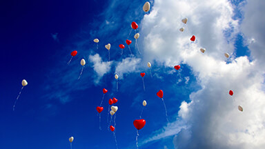 Balloon Hearts Google Background