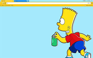 Bart Simpson Chrome Theme