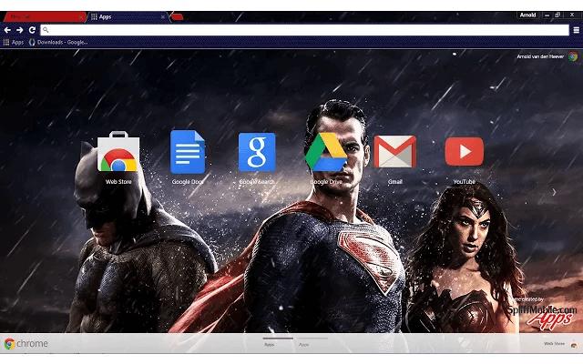 Batman vs Superman Chrome Theme