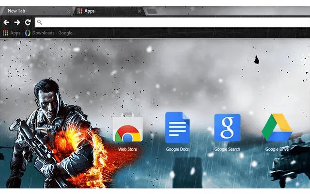 Battlefield 4 Google Theme