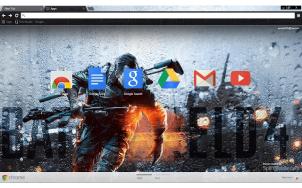 Battlefield 4 Storm Google Chrome Theme