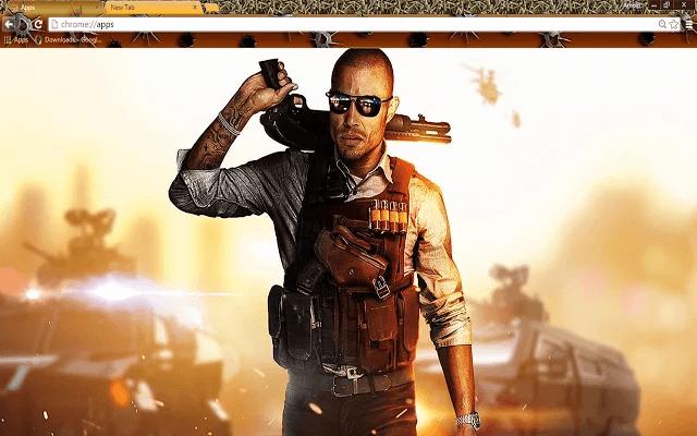 Battlefield Hardline Google Chrome Theme