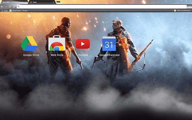 Battlefield 1 Chrome Theme