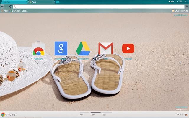 Beach Google Theme
