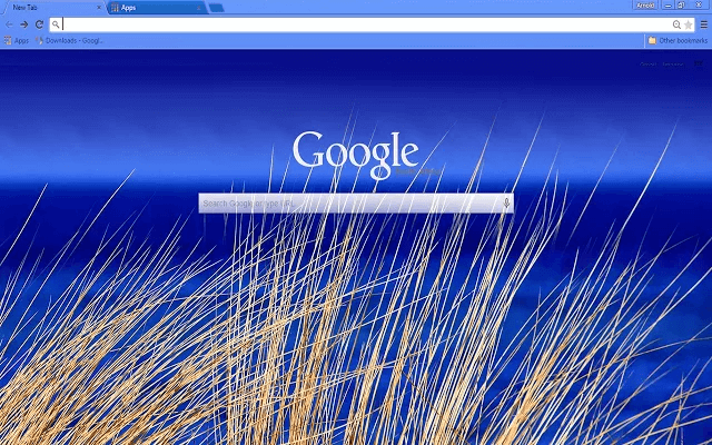 Beach Blue Google Chrome Theme