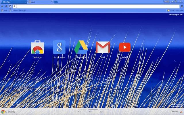 Beach Blue Google Theme