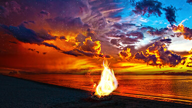 Beach Bonfire Google Background