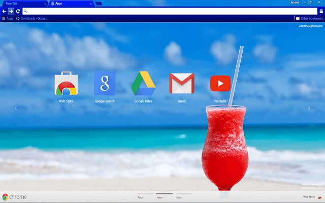 Beach Cocktail Google Theme