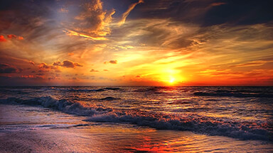 Beach Sunrise Google Background