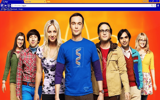 Big Bang Theory Google Chrome Theme