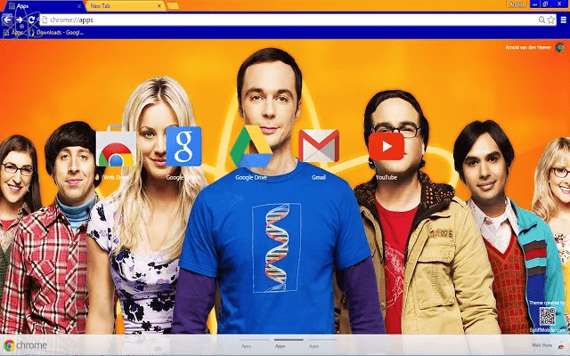 Big Bang Theory Google Theme