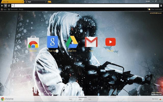 Black Ops Google Theme