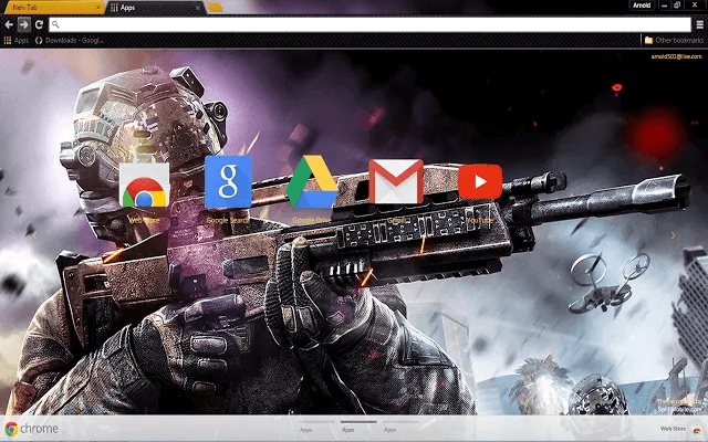 Black Ops 3 Google Theme