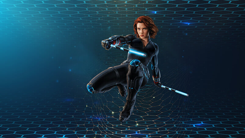 Black Widow 3D Chromebook Wallpaper ...