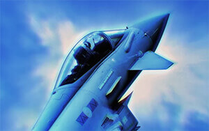 Blue Fighter Jet Chrome Theme