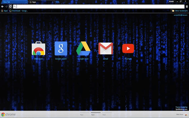 Blue Hacker Google Theme