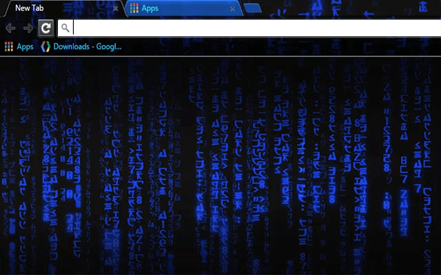 Blue Hacker Chrome Theme