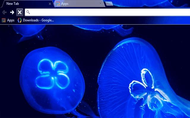 Blue JellyFish Chrome Theme