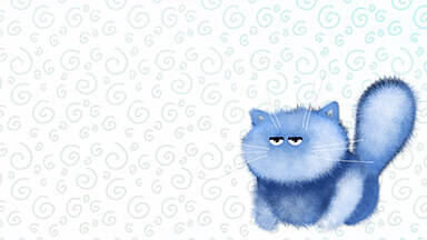 Blue Kitten Chromebook Wallpaper