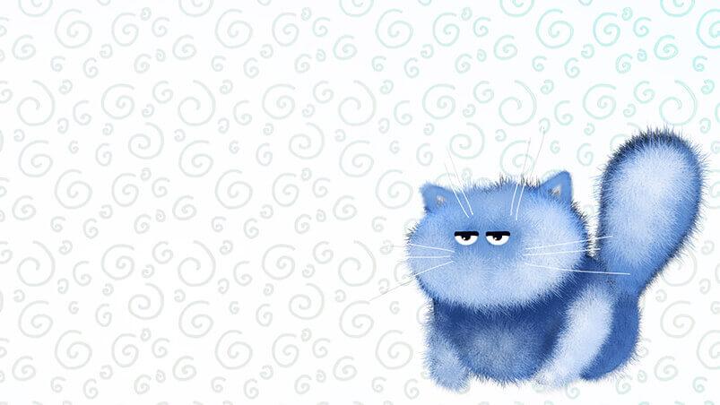 Blue Kitten Google Background ...