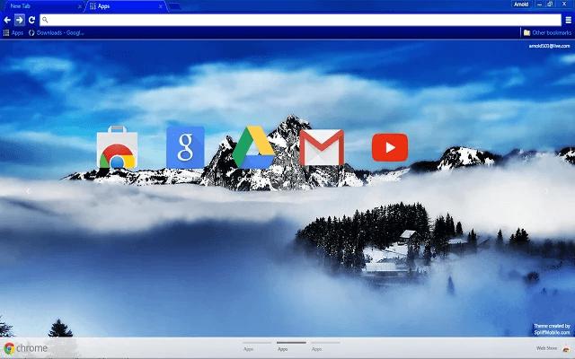 Blue Mountain Google Theme