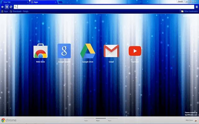 Blue Star Google Theme