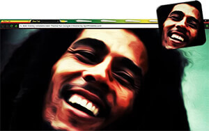Bob Marley Smokescreen Chrome Theme