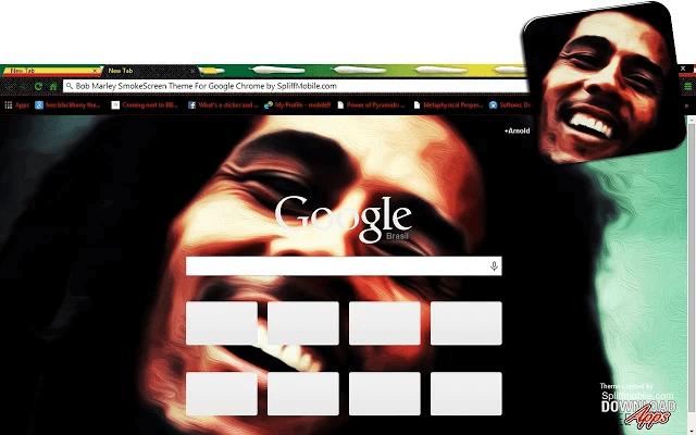 Bob Marley SmokeScreen Google Theme