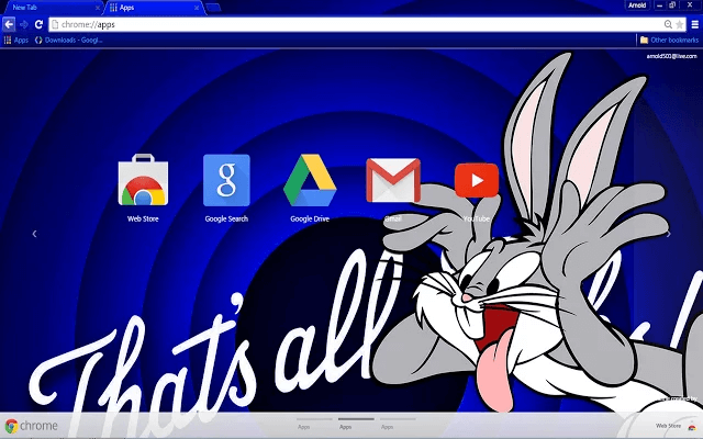 Bugs Bunny HD Google Theme