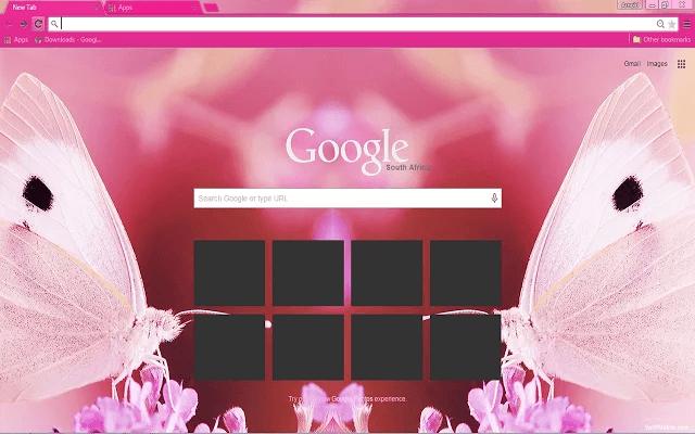 Butterflies Google Chrome Theme